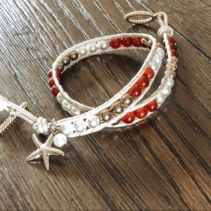 Jewelry - Leather Wrap Bracelet CUSTOM COLORS AVAILABLE